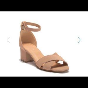 Top Moda - Darcie Ankle Strap Sandal taupe / 8.5M